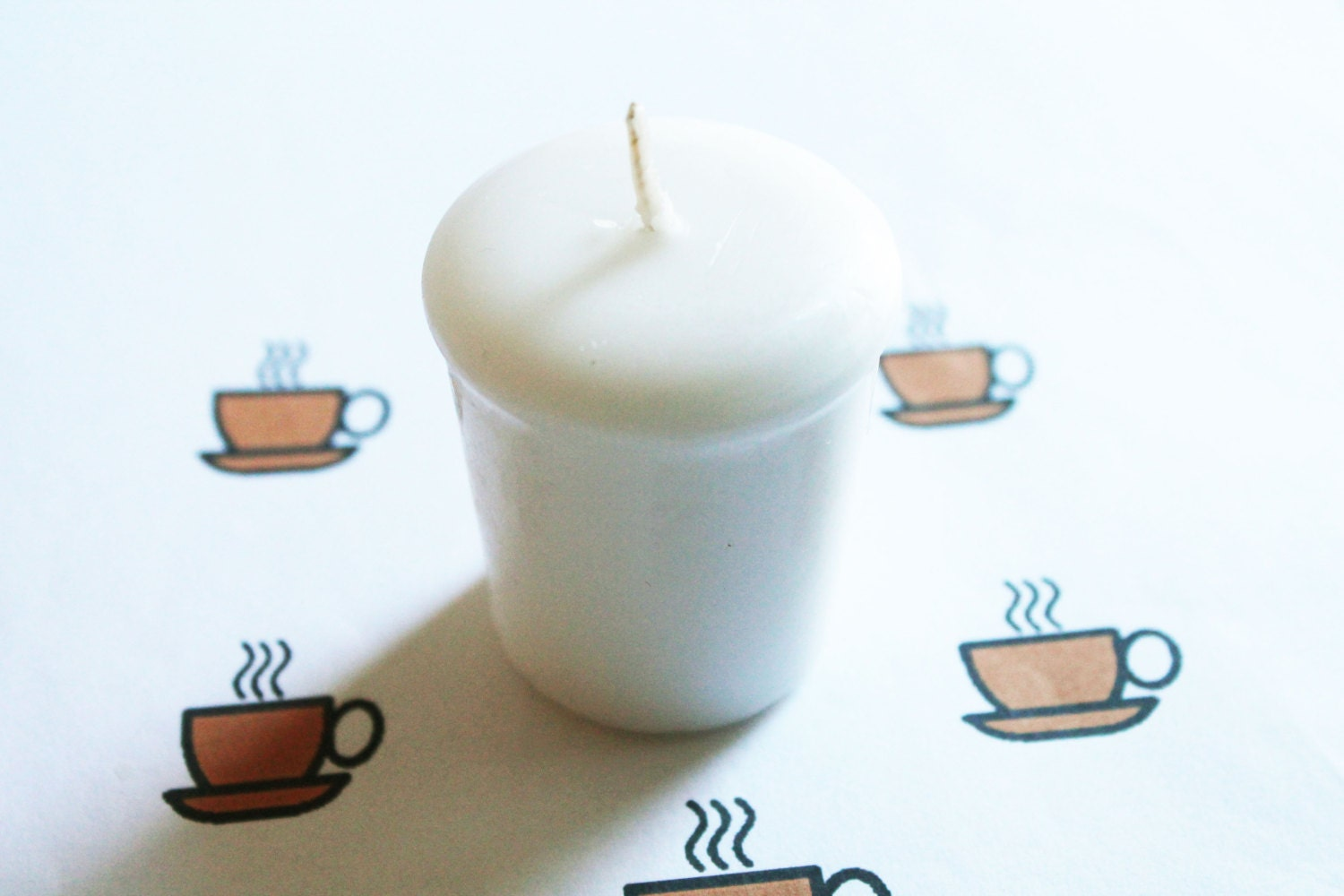 Black Coffee Scented Votive Candle Paraffin Wax Home Decor