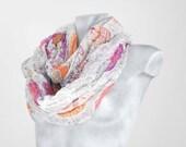 Infinity Scarf Gray Scarf Paisley scarf Scarf Loop Scarf Circle Scarf Soft Scarf