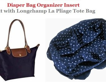 Diaper Bag organizer Insert For Longchamp Le Pliage Large Bag + FREE Pacifier Holder / Choose Your Color / Made to order