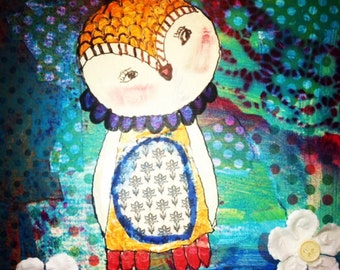 Mixed Media:  Owl Be There...