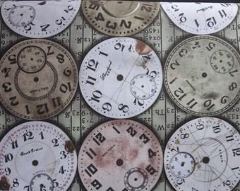 Tim Holtz New Fabric - Eclectic Elements Bridge Designs - Timepieces-Multi