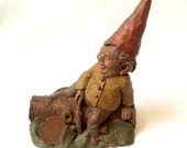 "Gnome Woodspirit Figurine Pecan Resin ""MOE"""
