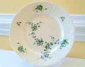 Coalport Dinner Plate Tintern Blue Roses Fine Bone China Collectable Replacements Made in England