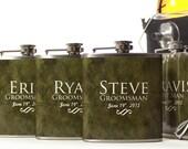 5, Groomsmen Gift Flask Gift Sets, Personalized Flasks for Groomsmen and Best Men