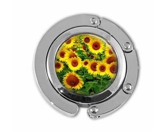 Yellow Sunflowers Spring Garden Purse Hook Purse Hanger Umbrella Hanger Handbag Holder