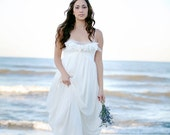 Wedding Dress Romantic bohemian wedding gown lace beach maxi Lace- Sample Sale ready to ship
