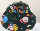Free Shipping - Handmade Coin Purse Santa Claus Merry Christmas