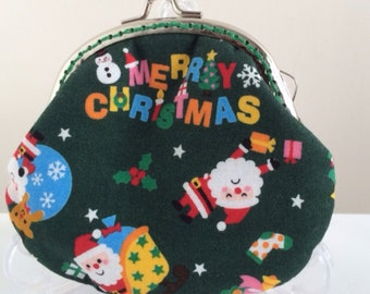 Free Shipping - Handmade Coin Purse Santa Claus Merry Christmas