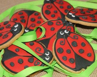 1 dozen Ladybug sugar cookies