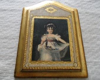 Vintage Florentine Little Girl Picture