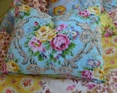 Twin Size Quilt, Quilted Pillow Cover, Down Pillow Insert Included, Cherbourg France Style