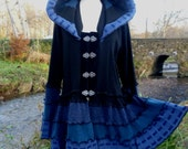 Samara - Gypsy Vampire coat from recycled sweaters by SpiralGypsy - size 1/2XL - RESERVED for Mokihana - please do not purchase