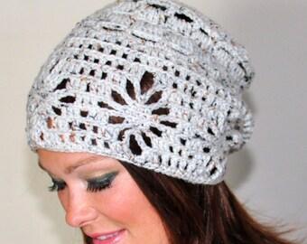 Slouchy Beanie Women Hat Slouchy Hat Summer Wheat White Hat Naturel Earth Neutral Crochet Gift