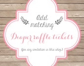 Matching Diaper Raffle Ticket Design -