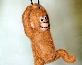 Felted Monkeys. Felt Monkey Toy. Needle Felted Animals. Felt Animals. Kids Toy. Jungle Animal. Waldorf Toy. Boys Gift. Childs Gift For Boy