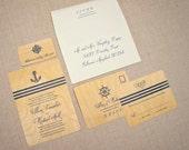 Wedding Invitations on Real Wood - Nautical Voyage