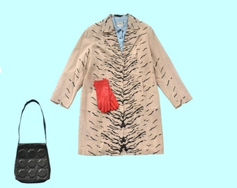 90s Painted Suede Zebra Jacket size L