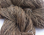 Organic hemp yarn for fibre and textile art projects. Thin weight. 200g, Knitting, crochet, jewelry, weaving, bags and more.