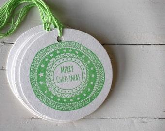 Letterpress Christmas Gift Tags