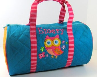 Stephen Joseph Quilted Owl Duffle