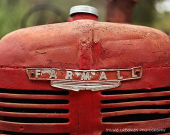 Rustic Photography Tractor Photography Vintage country photography farm Farmall red wall art  Fine Art Photography Print