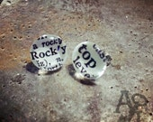 SALE Rocky Top vintage words post earrings Tennessee Vols