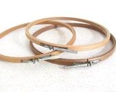 Vintage Wood Embroidery Hoops - Felt Lined Hoops