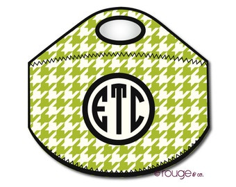 HOUNDSTOOTH monogrammed lunch tote - with customizable pattern and monogram