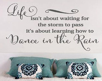 Dance in the Rain - Life Family Love bedroom Vinyl Lettering wall words decal graphics Home decals decor itswritteninvinyl