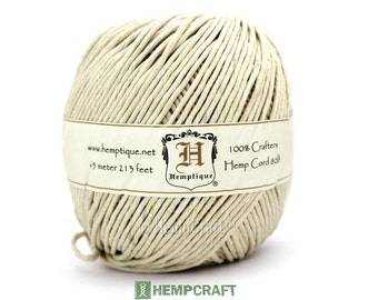 Natural Hemp Cord, 2mm Natural Eco Friendly 80lb Hemp Twine, 213ft