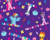 My Little Pony Names Cotton Fabric by Springs Creative, 1 yard