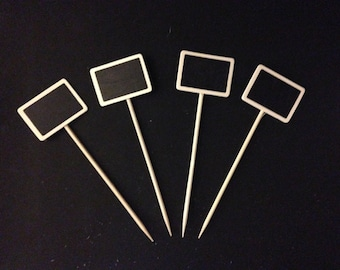 4 Mini Chalkboard Sticks