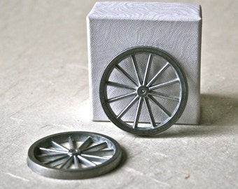 "Metal Spoked 1 3/4"" Wheels for Toy Making and Crafting"