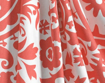 Window Panels Drapes Coral Suzani damask