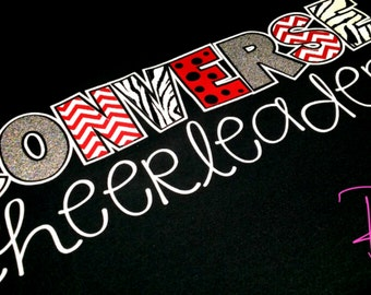 Cheer Shirt Design Ideas cheerleading t shirt design Original Design Team Spirit Shirts Zebra Polkadot Glitter Chevron Cheer