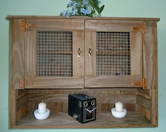 Reclaimed Wood Rustic Wall Cabinet