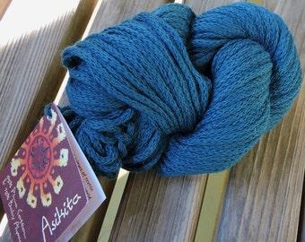 ARAN or WORSTED Weight Yarn - Pima Cotton and Baby Alpaca - Mirasol Asikita - Teal (#2106) - 50g / 71 yards