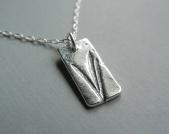 Tiny Blades of Grass Necklace