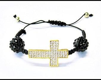 Rhinestone Cross Bead String Bracelet Featured in Glamoholic Magazine with Joey King