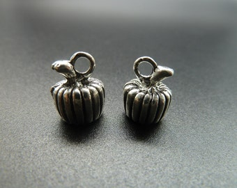 10pcs 10x13mm Antique Silver  Lovely  3D  Pumpkin Charm Pendant c3567