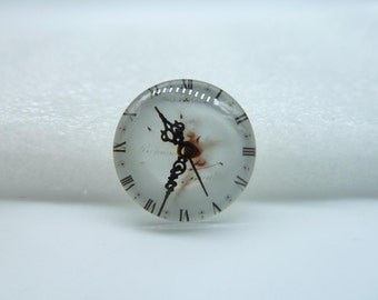4pcs 20mm Handmade Photo Glass Cabochons  (Clock Watch)  GE1-11