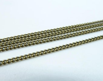 5meters 2mm Antique Bronze Brass  Flat Oval Chain E1016