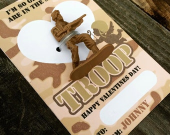 Army Desert Camo Valentine DIY Printable