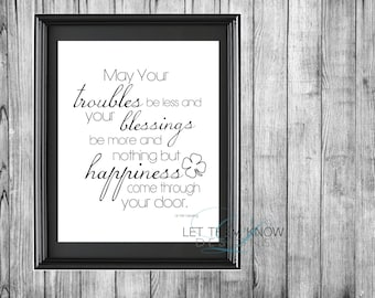 Irish Blessing  8x10 *INSTANT DOWNLOAD*