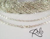 "50 18"" Silver Plated ROLO Chain Necklaces with Lobster Clasp 3mm  - Bright and Shiny"