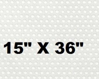 "Non Slip Fabric, Jiffy Grip Fabric, Baby Shoe Sole Fabric, Pajama Feet, White Cotton, 15"" X 36"""