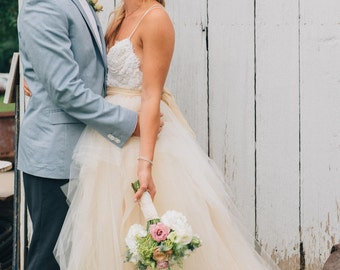 Tulle Bridal Skirt with Organza Bow