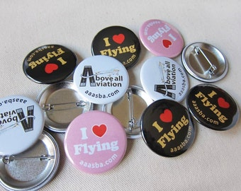 1.5 Inch Custom Button Pins or Magnets. Set of 75. Wedding Favors. Party Favors. Guest Mementos. Pinback Badges.