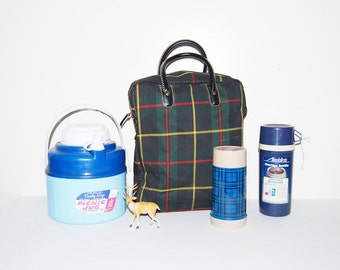 Vintage Thermos Collection with Bag