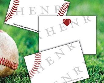 Baseball Stationery - Baseball cards - digital file - printable